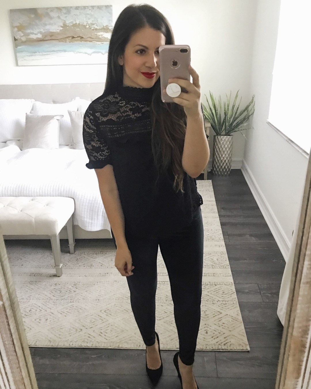 Gibson X Glam top, Gibson Sheaffer Top, black lace top, Gibson Nordstrom