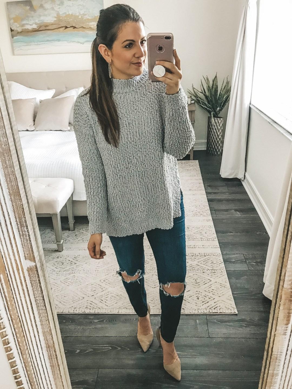 Amazon Fashion sherpa fleece knitted sweater