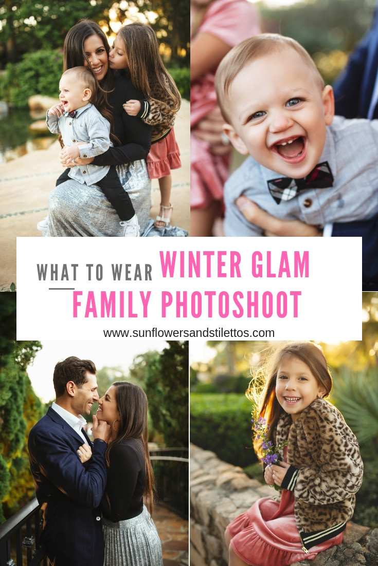 WHAT TO WEAR, WINTER GLAM FAMILY PHOTOSHOOT