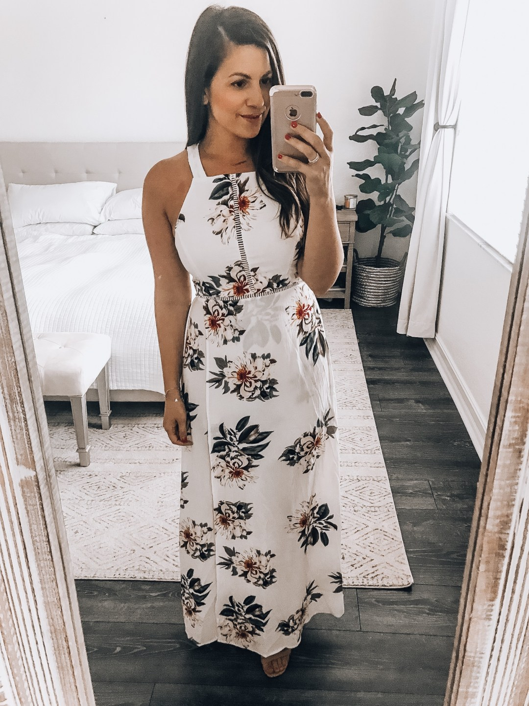floral maxi dress, Amazon fashion maxi dress