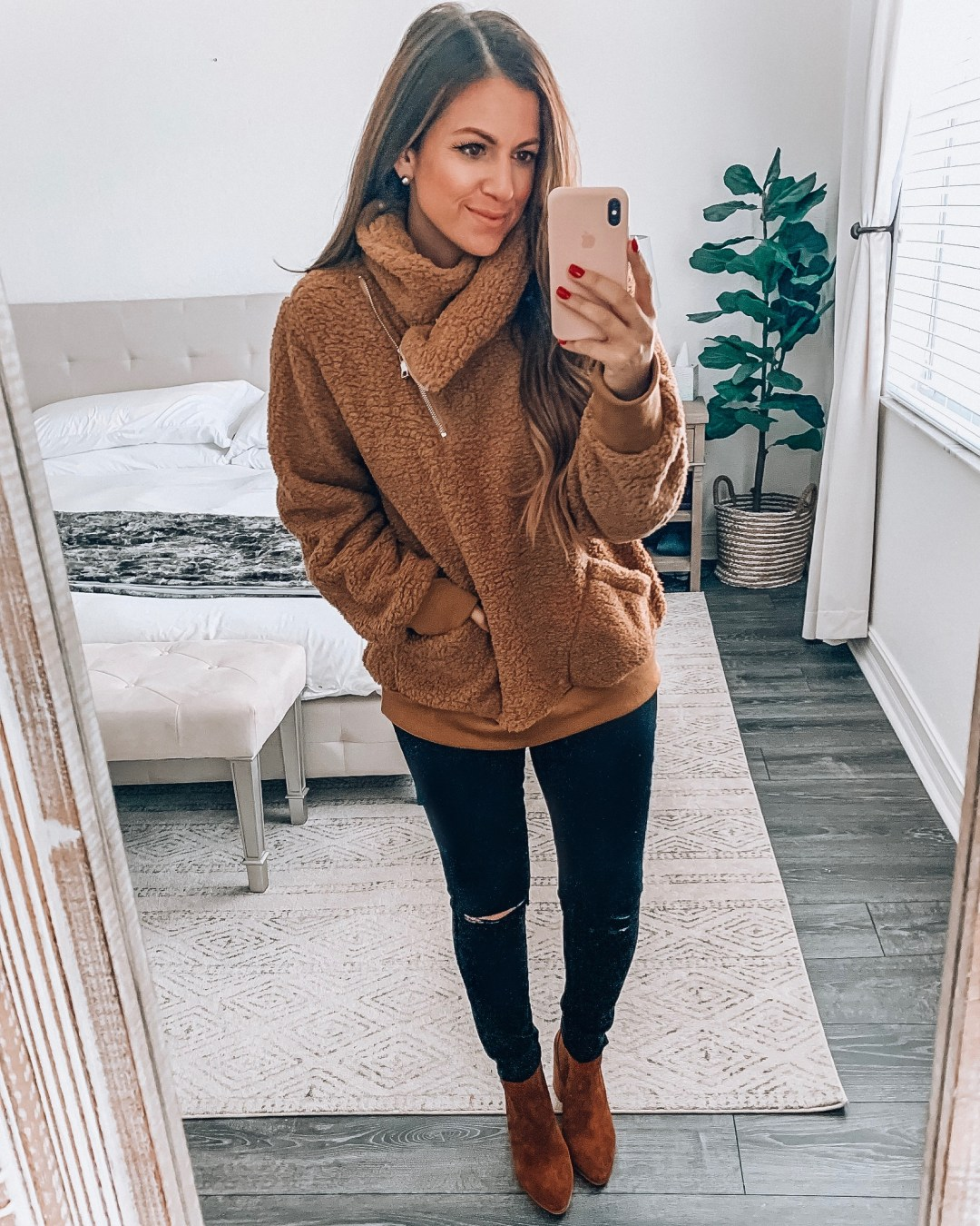 Amazon cozy pullover, faux shearling pullover