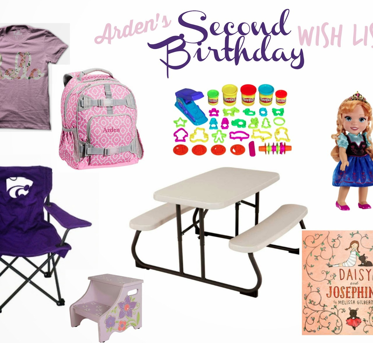 2nd Birthday WISH List