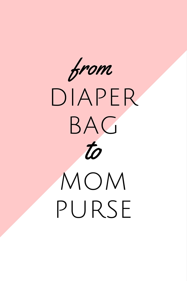 Sunflower State of Mind - transitioning from a diaper bag to a mom purse