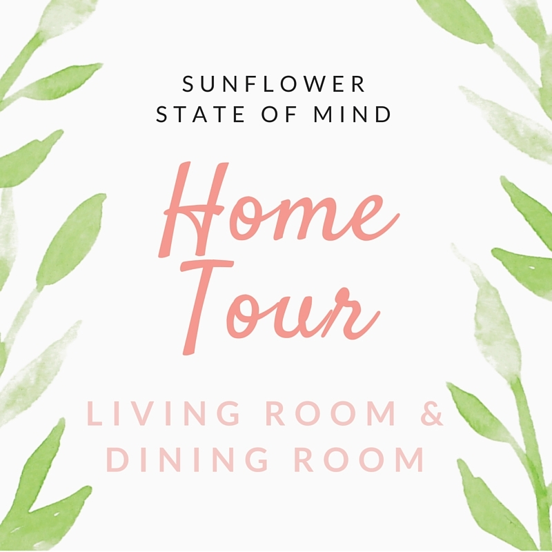 home tour: living room and dining room