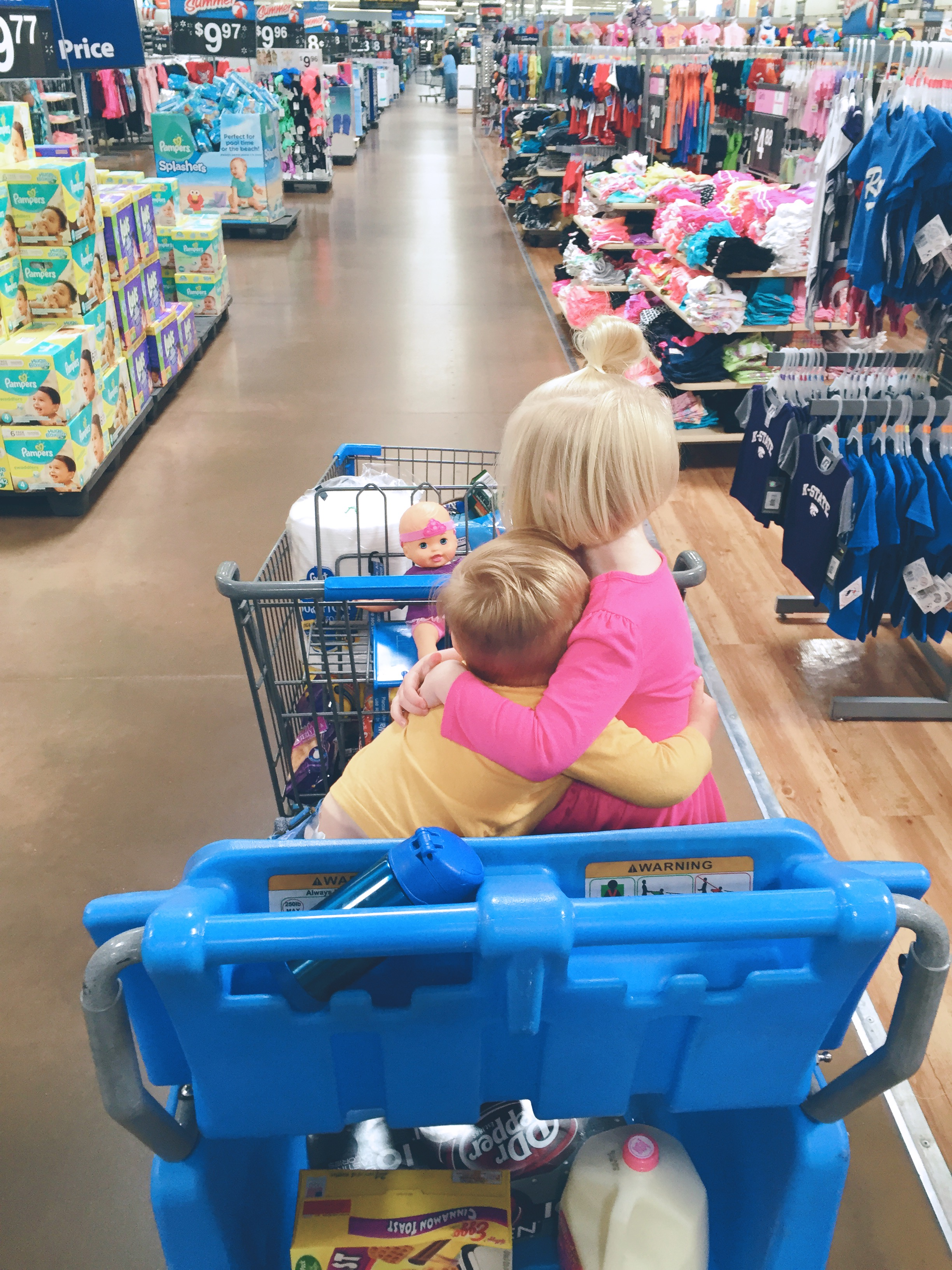 Shopping cart hugs