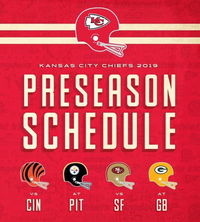 7e93d768 Kansas City Chiefs Announce 2019 Preseason Opponents | Sunflower ...