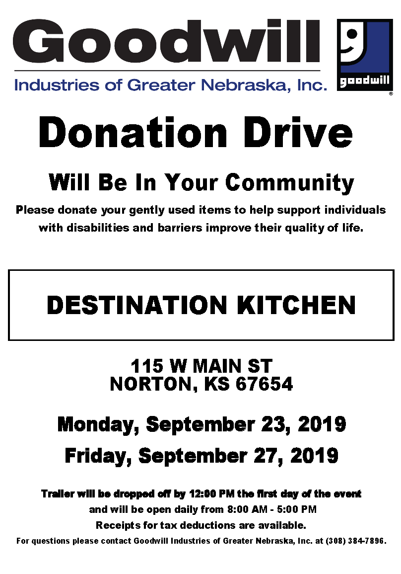 Goodwill Donation Drive Coming To Norton | Sunflower State Radio