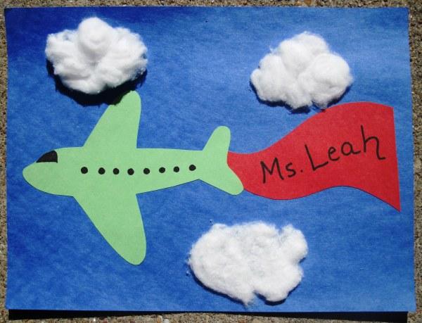 Preschool Airplane Craft