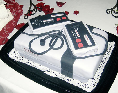 {Photo de gateau en forme de Super Nintendo}