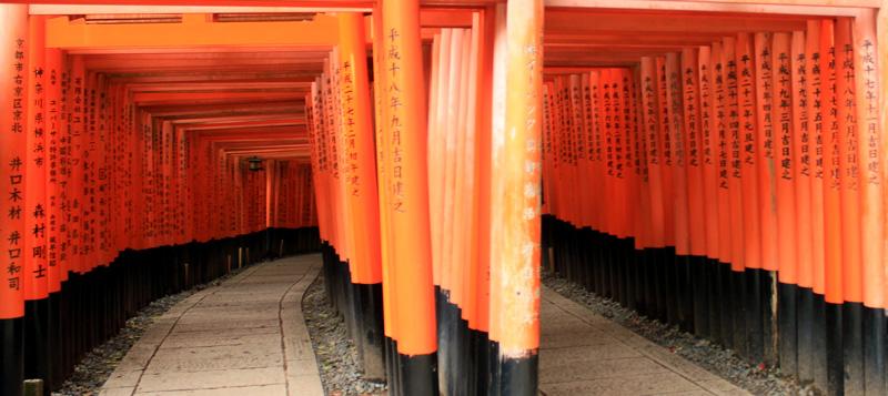 Photo de portes de Fushimi Inari-taisha