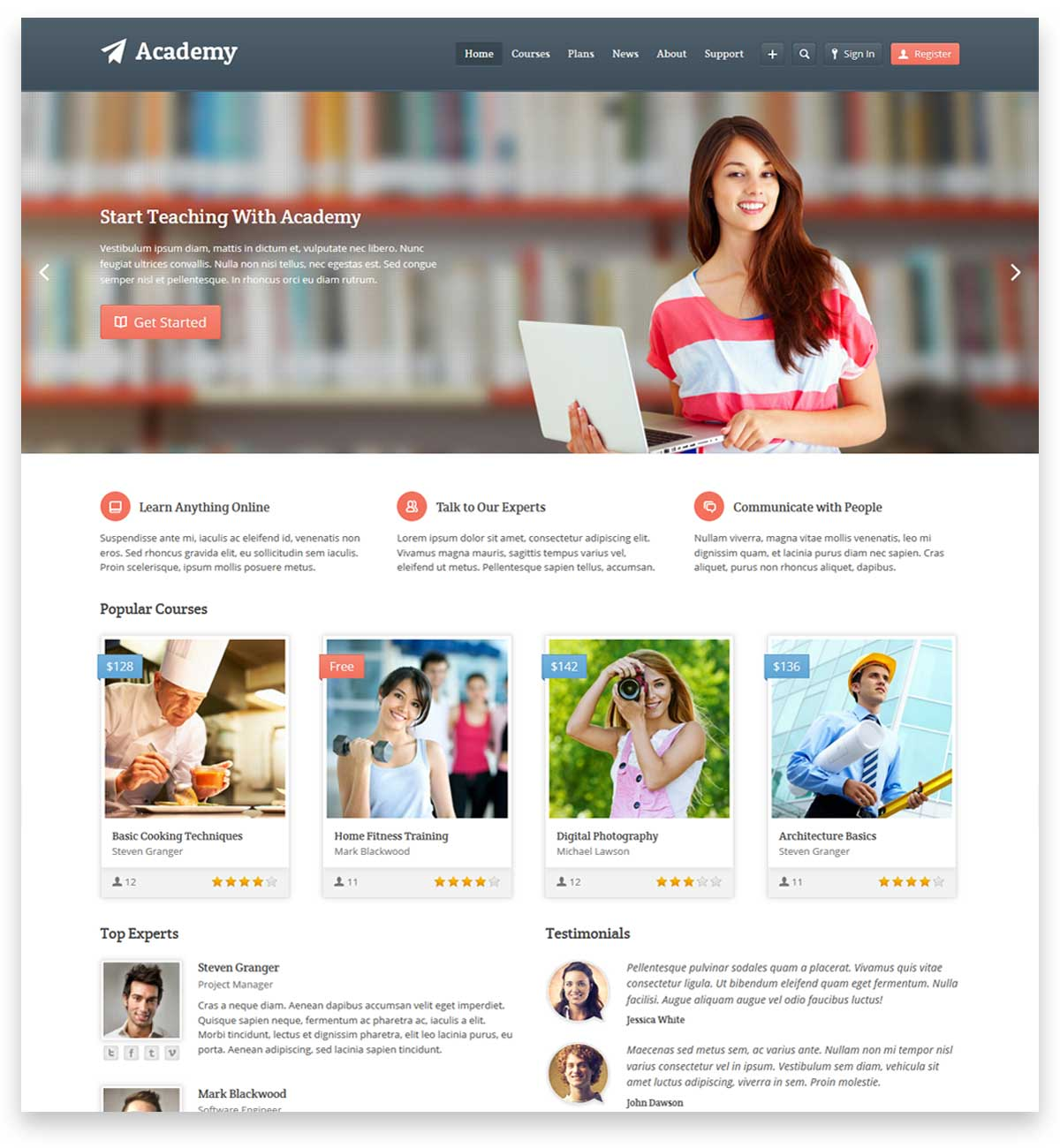 Academy - Learning Management Theme