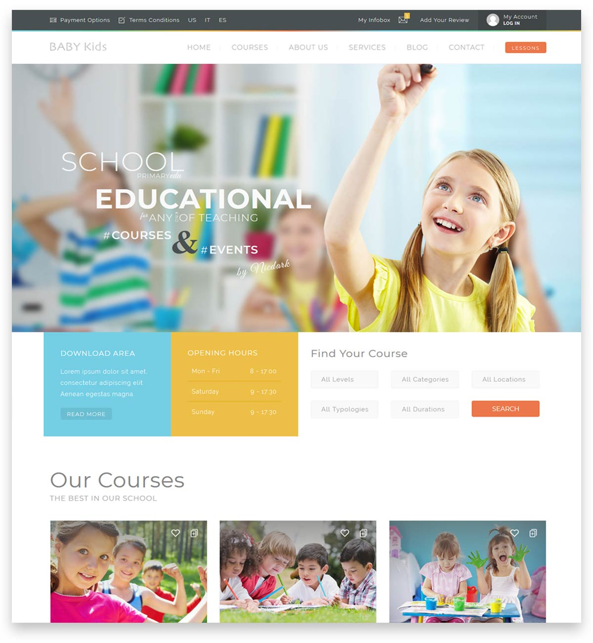Baby Kids - Education Primary School For Children theme