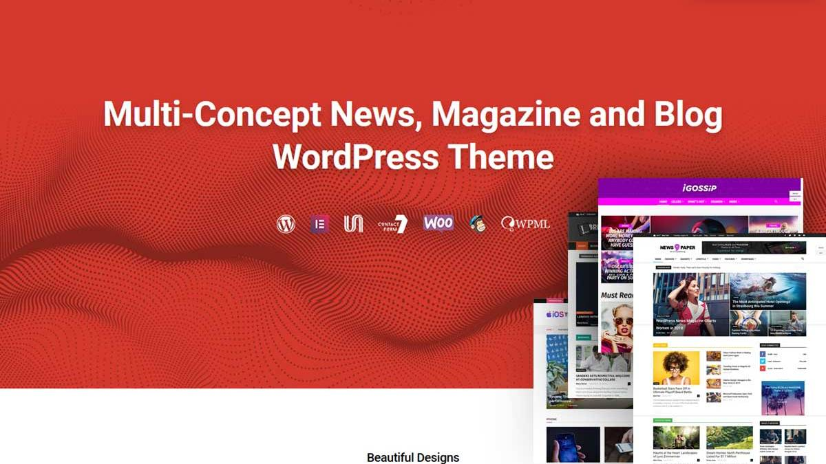 Best Responsive Magazine WordPress Themes is the theme list