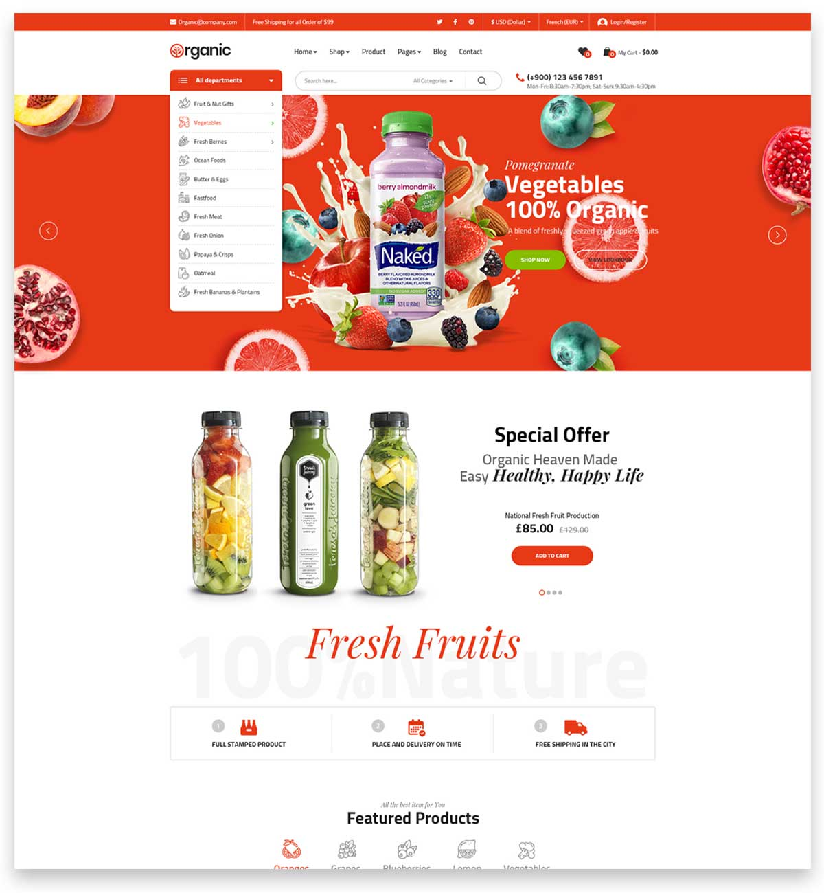 Biolife - Organic Food WordPress Theme ( RTL Supported )