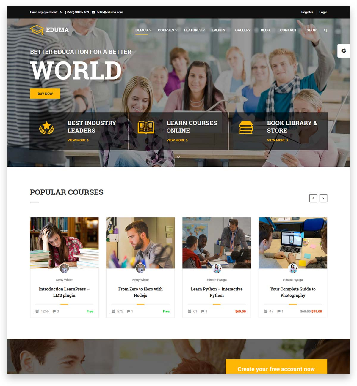 Education WordPress Theme | Eduma for educational sites