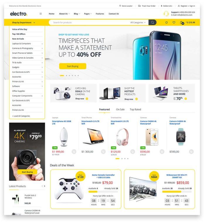 best responsive and multipurpose woocommerce wordpress Electro Electronics Store Theme