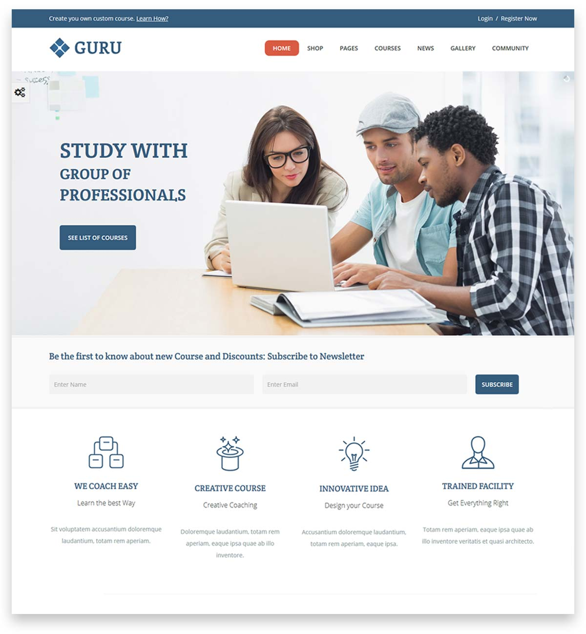 Guru | Learning Management WordPress Theme