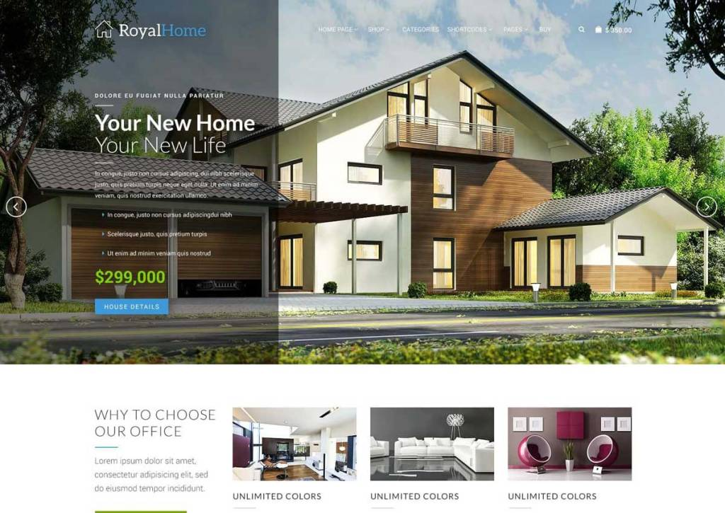 Luxurious Property Management and Real Estate WordPress Themes to build any types of real estate websites
