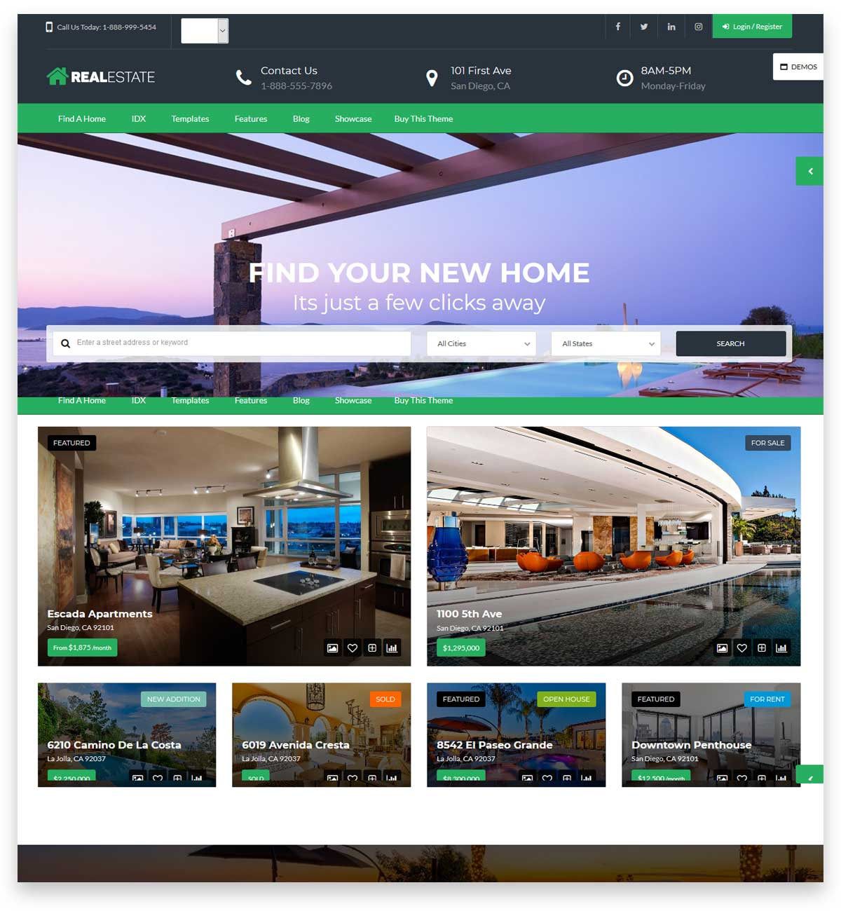 Real Estate 7 WordPress theme