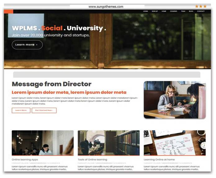 WPLMS Learning Management System for WordPress Education Theme