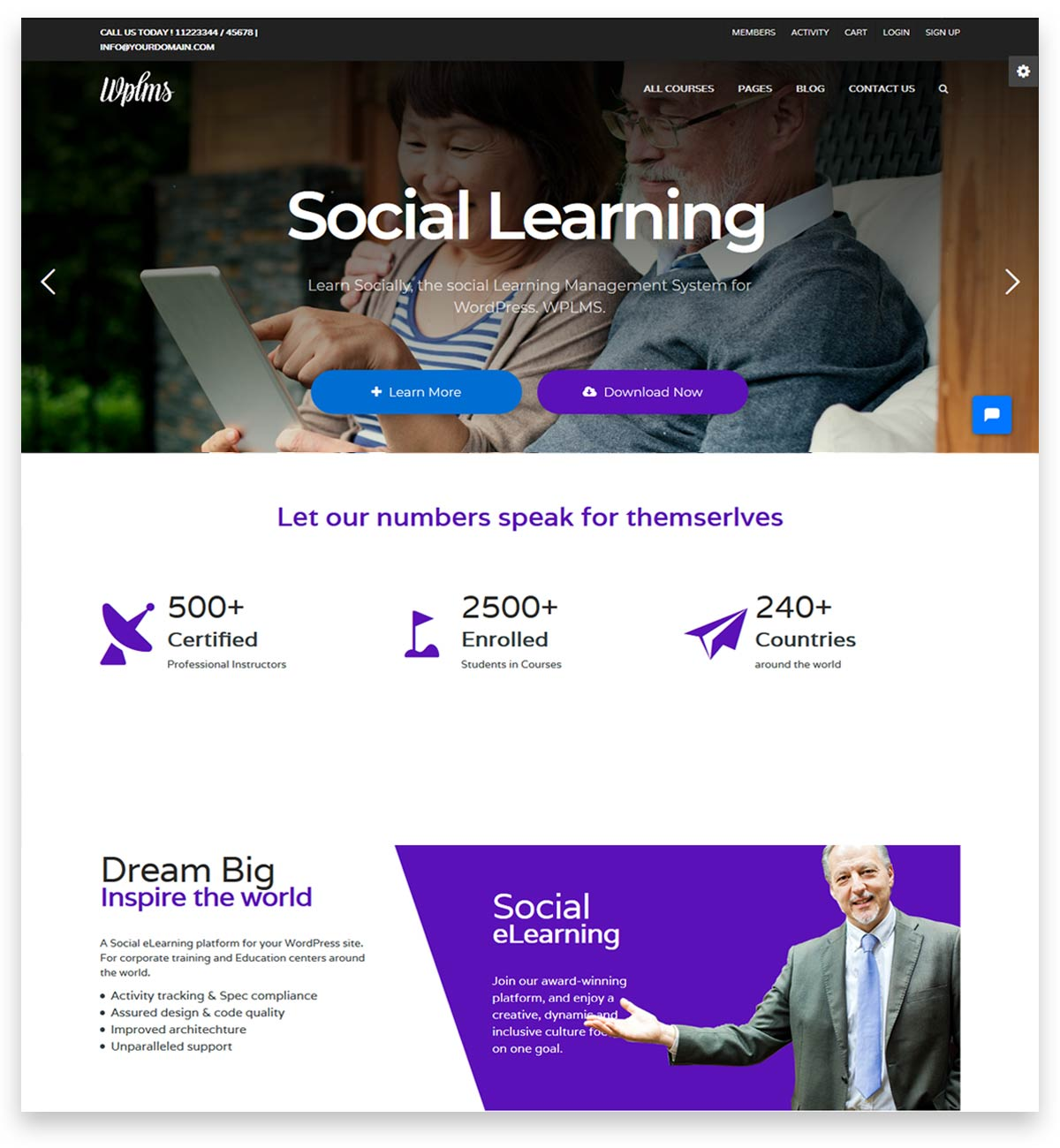 WPLMS Learning Management System for WordPress, Education Theme for education website