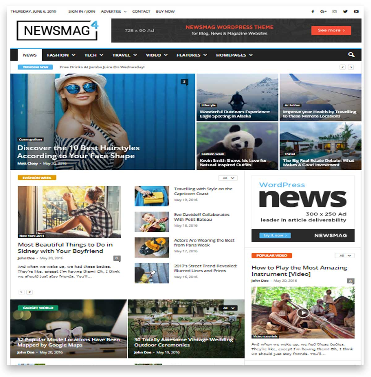 Newsmag - News Magazine Newspaper theme