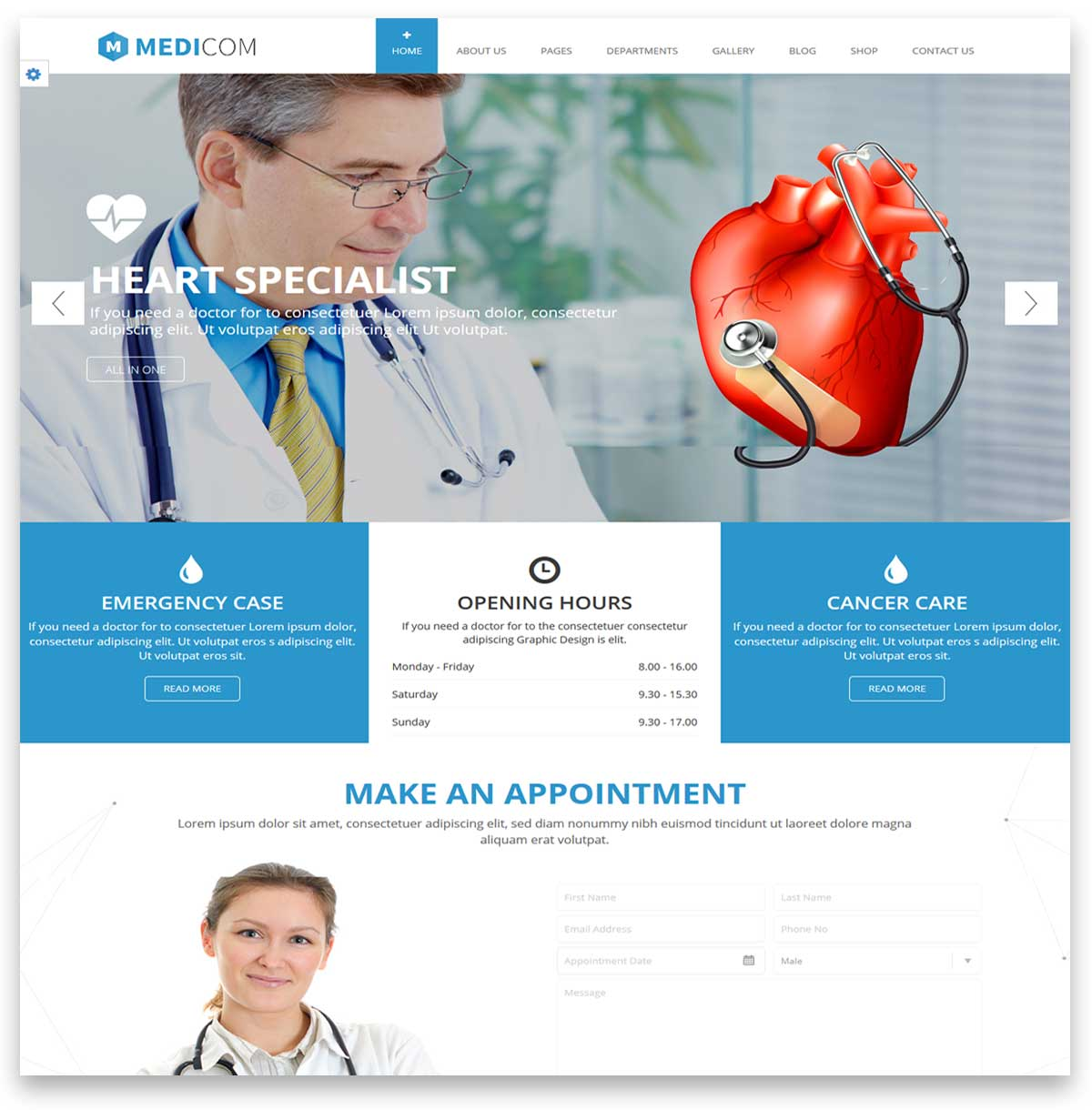 medical website themes