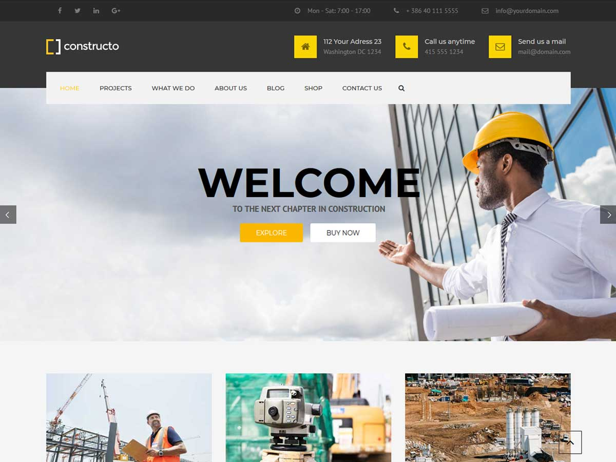 Constructo - Construction WordPress Theme is a great and popular construction website theme.