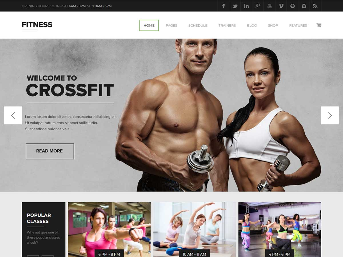 Gym WordPress Theme | Fitness is one of the best responsive gym sport & fitness club WordPress theme.