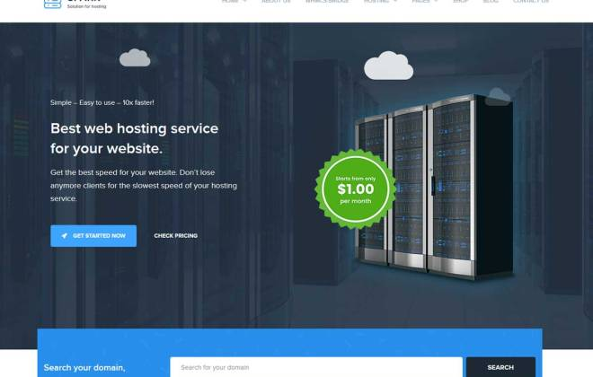 Best Web Hosting Company WordPress Themes are suitable for web hosting websites.
