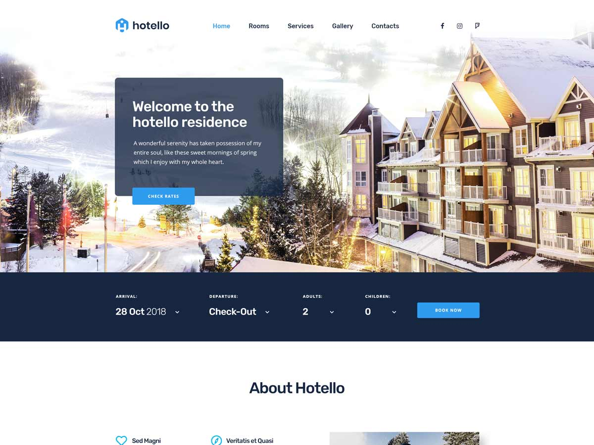 Hotello - Hotel WP Theme