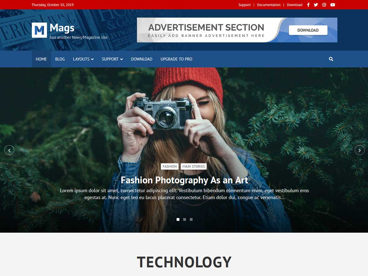 Mags theme is the Best WordPress Responsive Magazine Themes Free Download