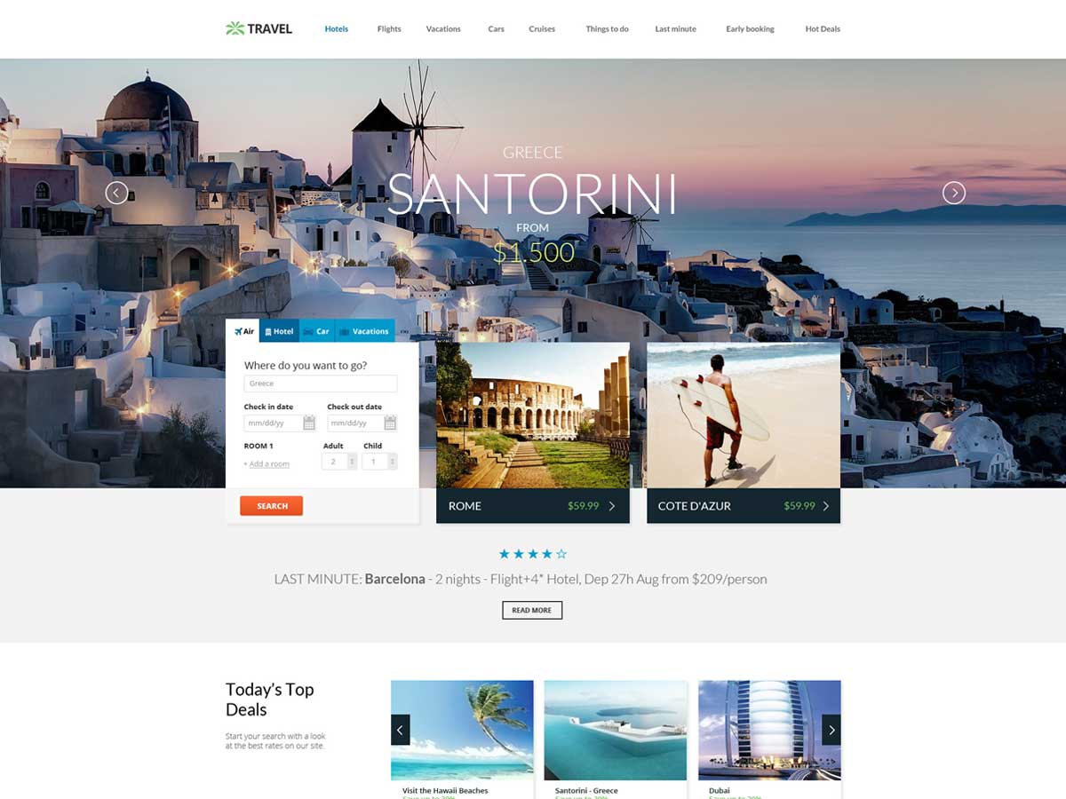 Travel Agency - Online Hotel Booking is a best hotel & resort WordPress theme.