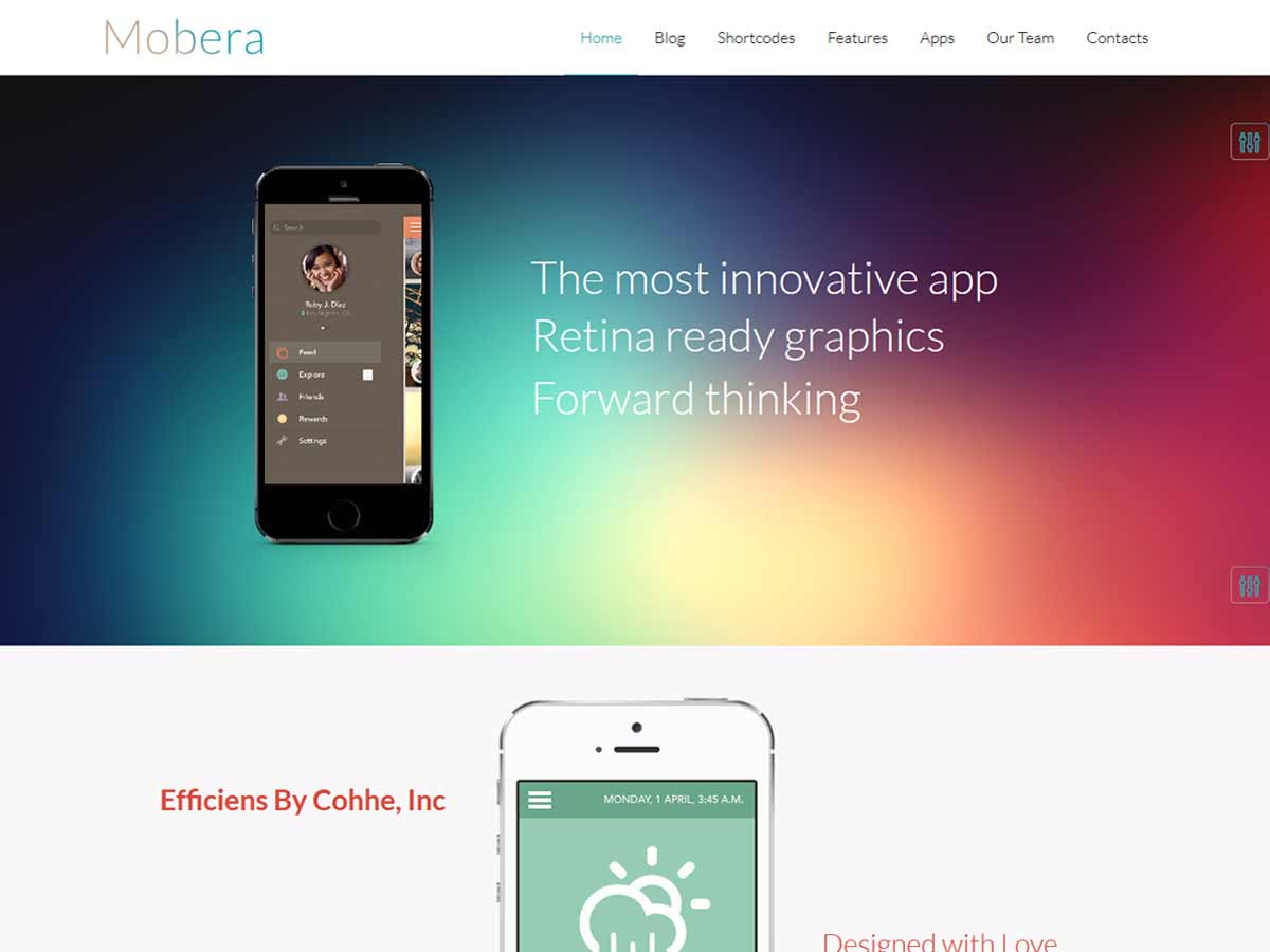 Mobera | Premium App Showcase WordPress Theme