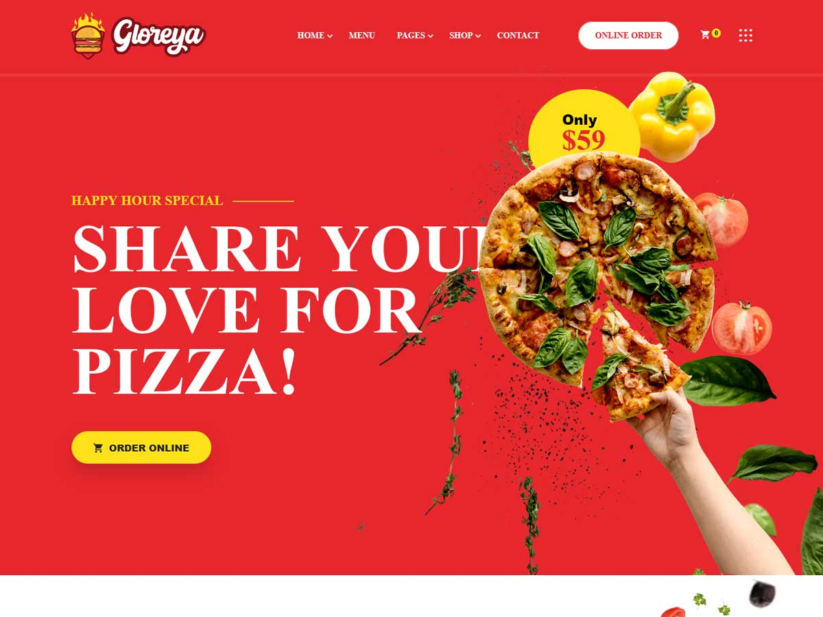 Gloreya - Fast Food WordPress Theme