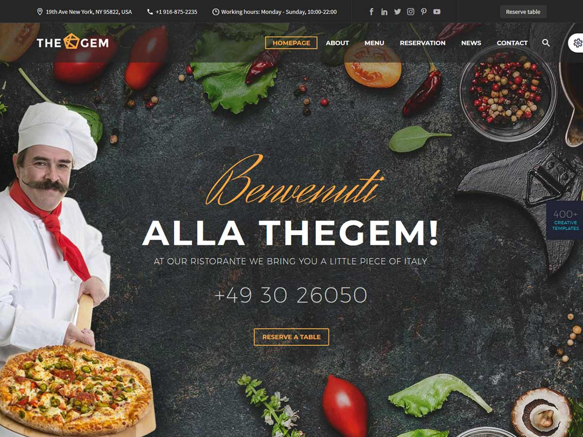 TheGem - Creative Multi-Purpose Restaurant WordPress Theme