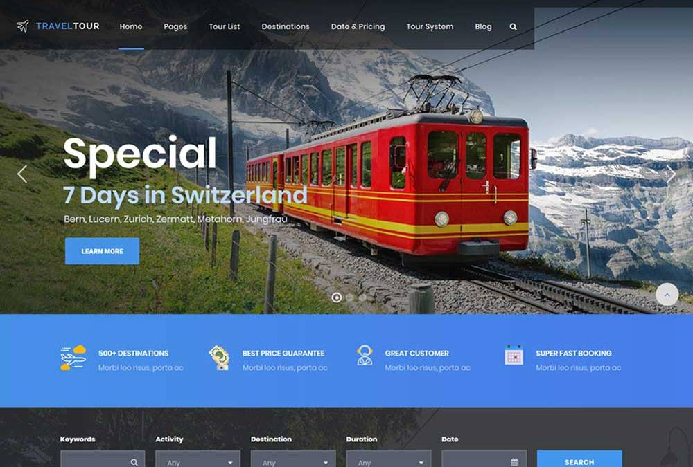 Best Responsive Travel Agency WordPress Themes