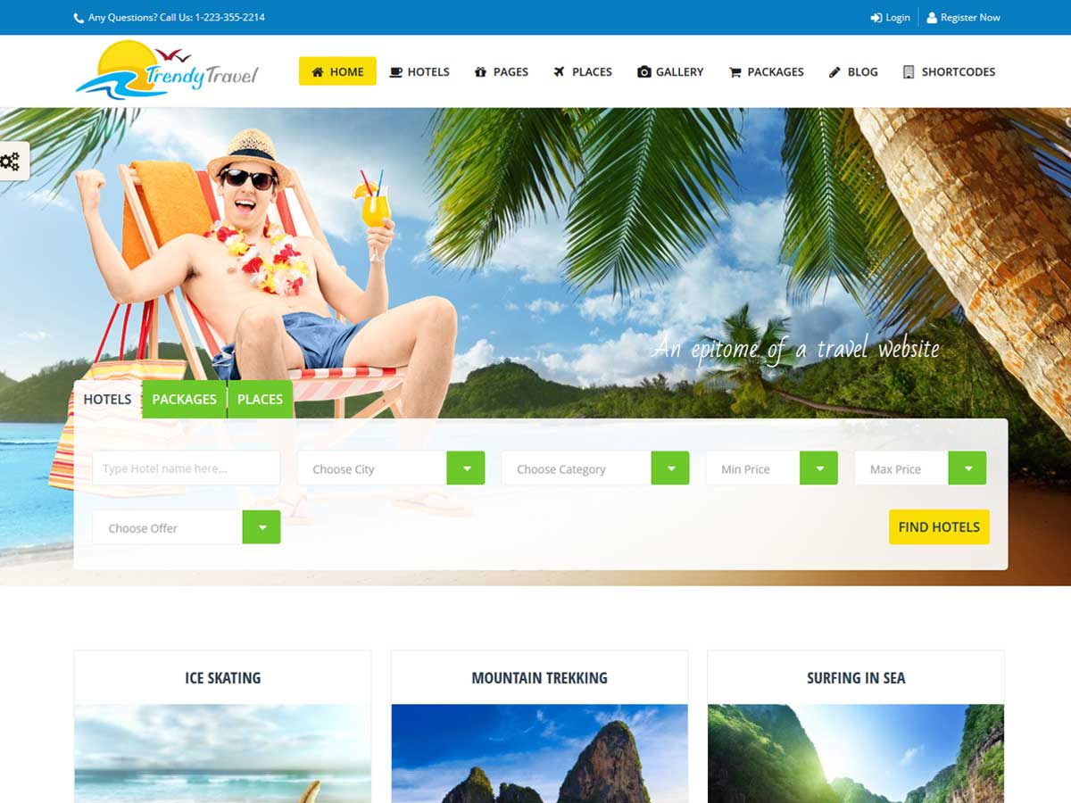 Trendy Travel Booking Theme