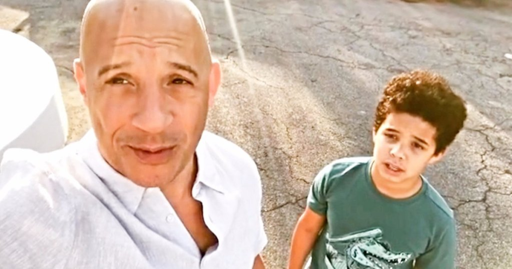 vin diesel and his son, vincent