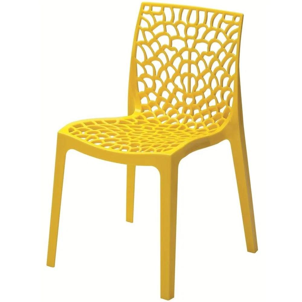 Cadeira Gruver Polipropileno Amarela  22693  SunHouse