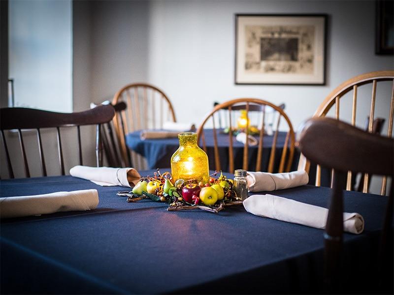 Dining area at the Sun Inn Restaurant – Tavern at the Sun Inn