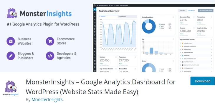 MonsterInsights Google Analaytics Plugin Free
