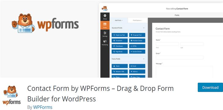 WPForms Lite Free WordPress Form Plugin