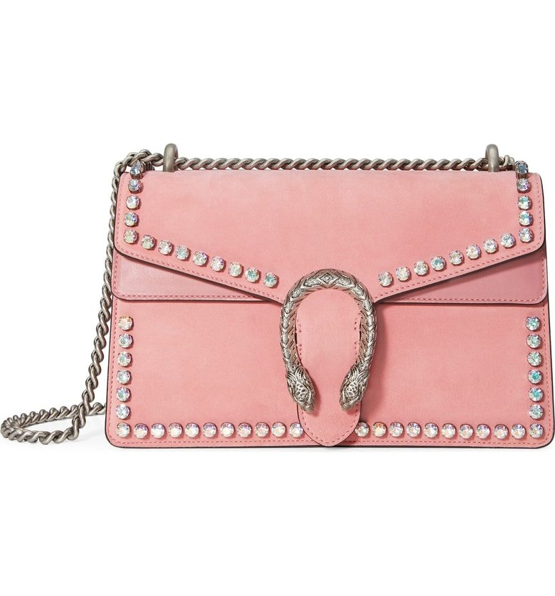 Gucci-Small-Dionysus Crystal-Embellished-Suede