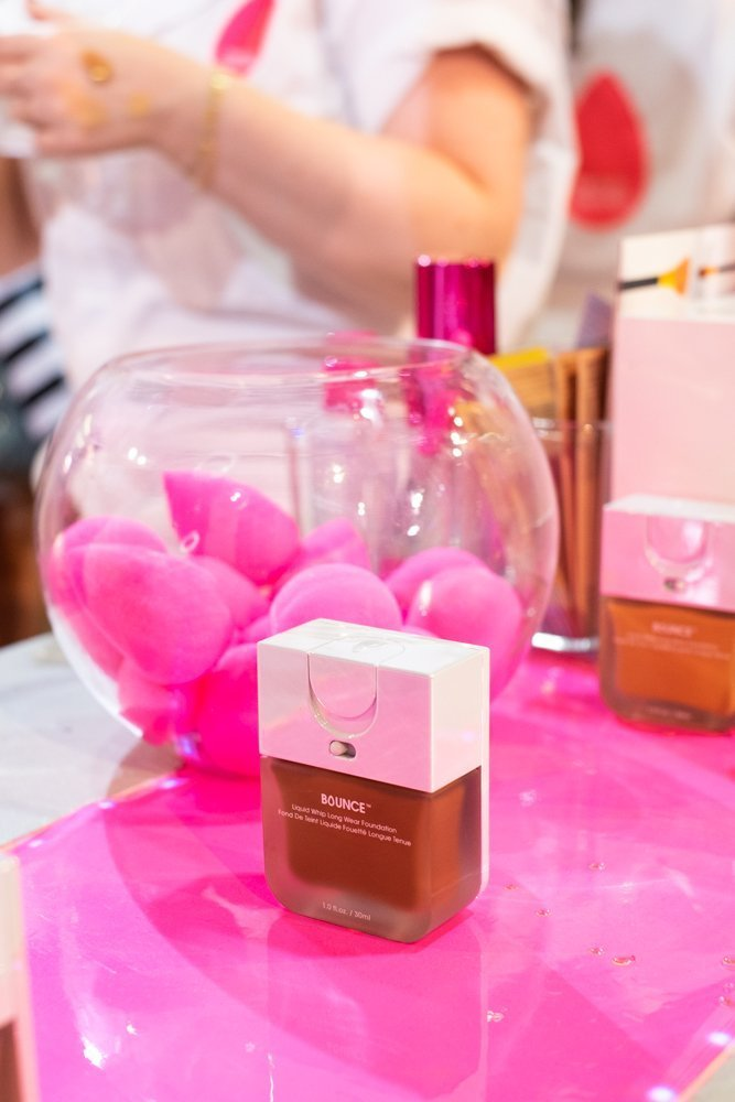 beautyblender conveyor with bounce foundation in foundation closet