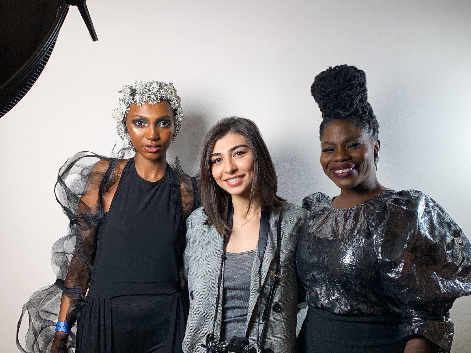 Farah Gasimzade with @its_tsion Message and Danessa Myricks at The Makeup Show, Houston, TX
