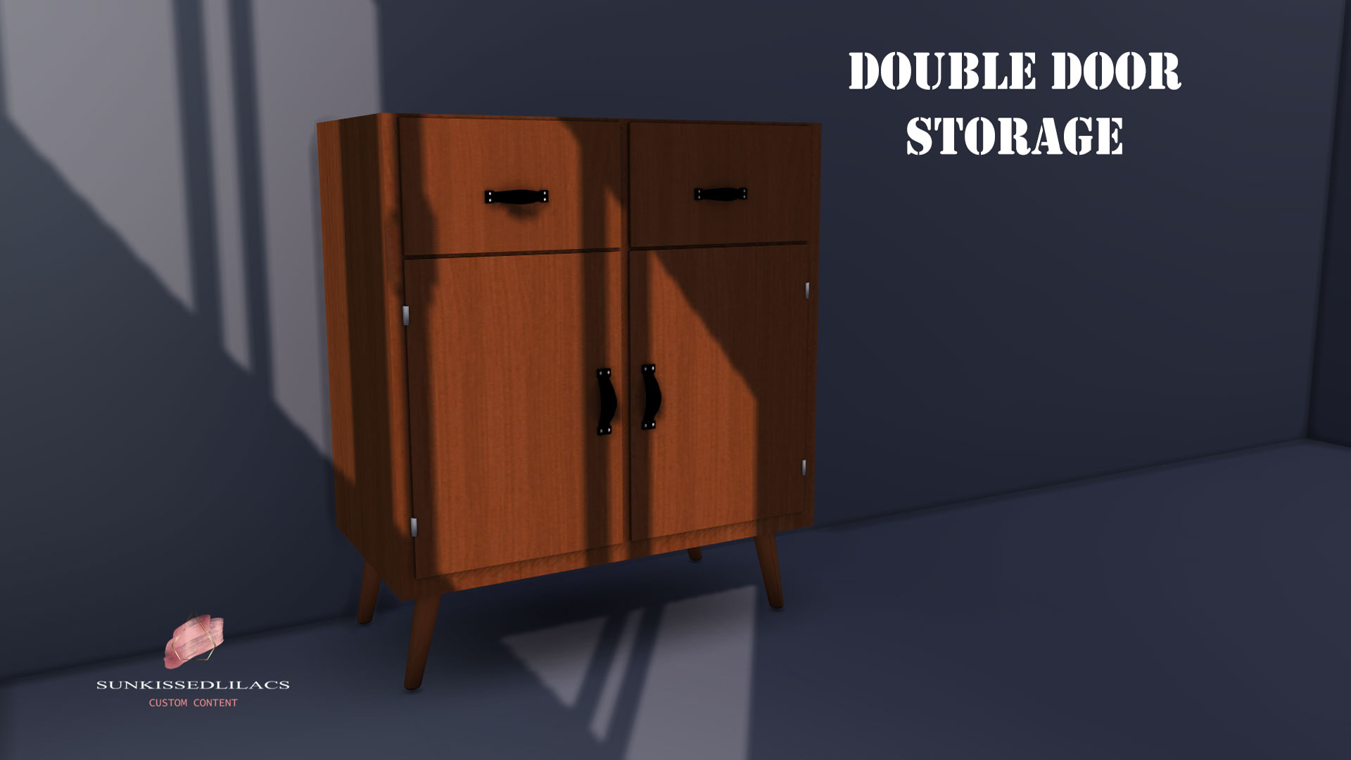 Double Door Storage sunkissedlilacs-simms-4-custom-content