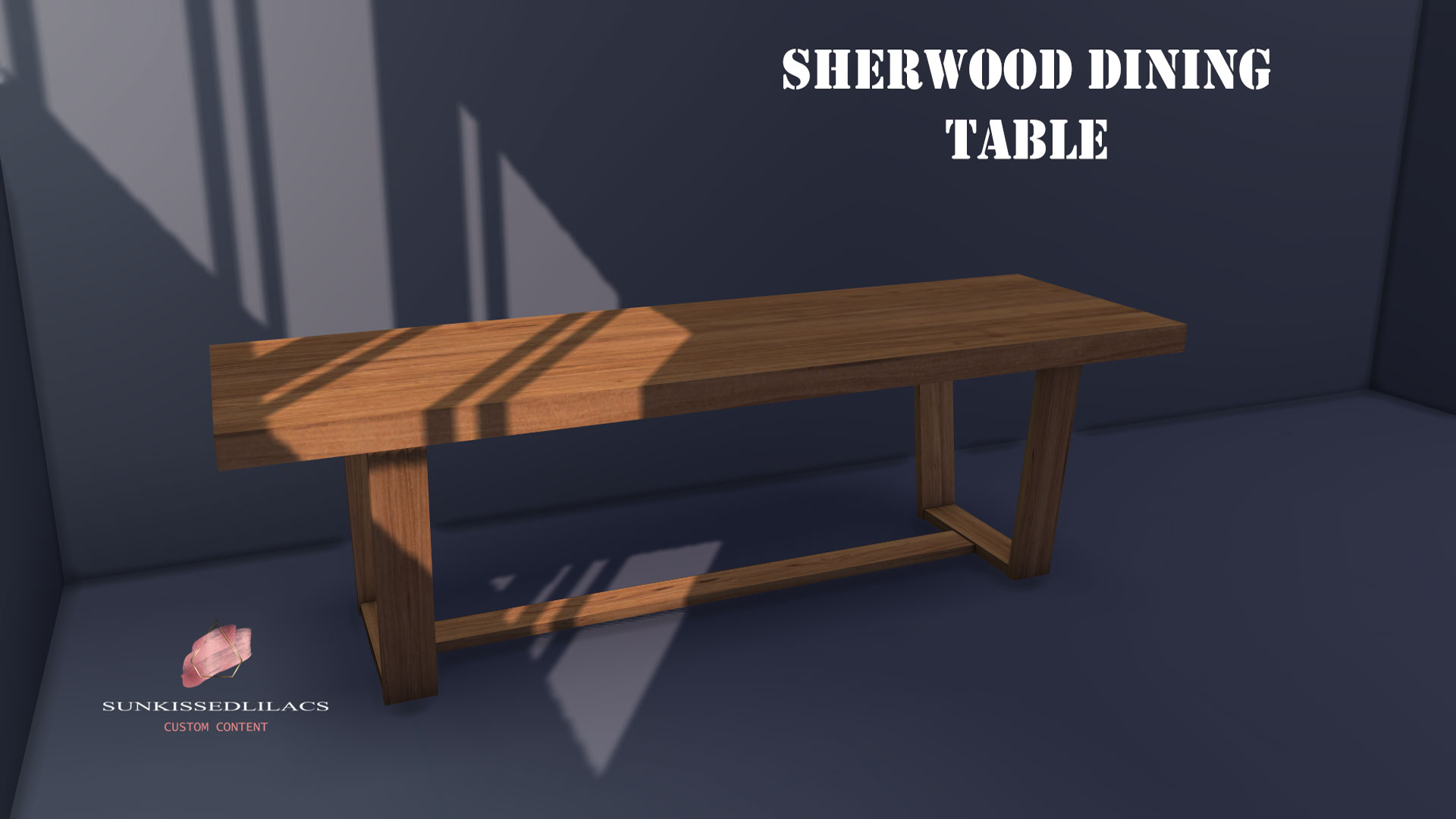 Sherwood Dining Table sunkissedlilacs-sims-4-custom-content