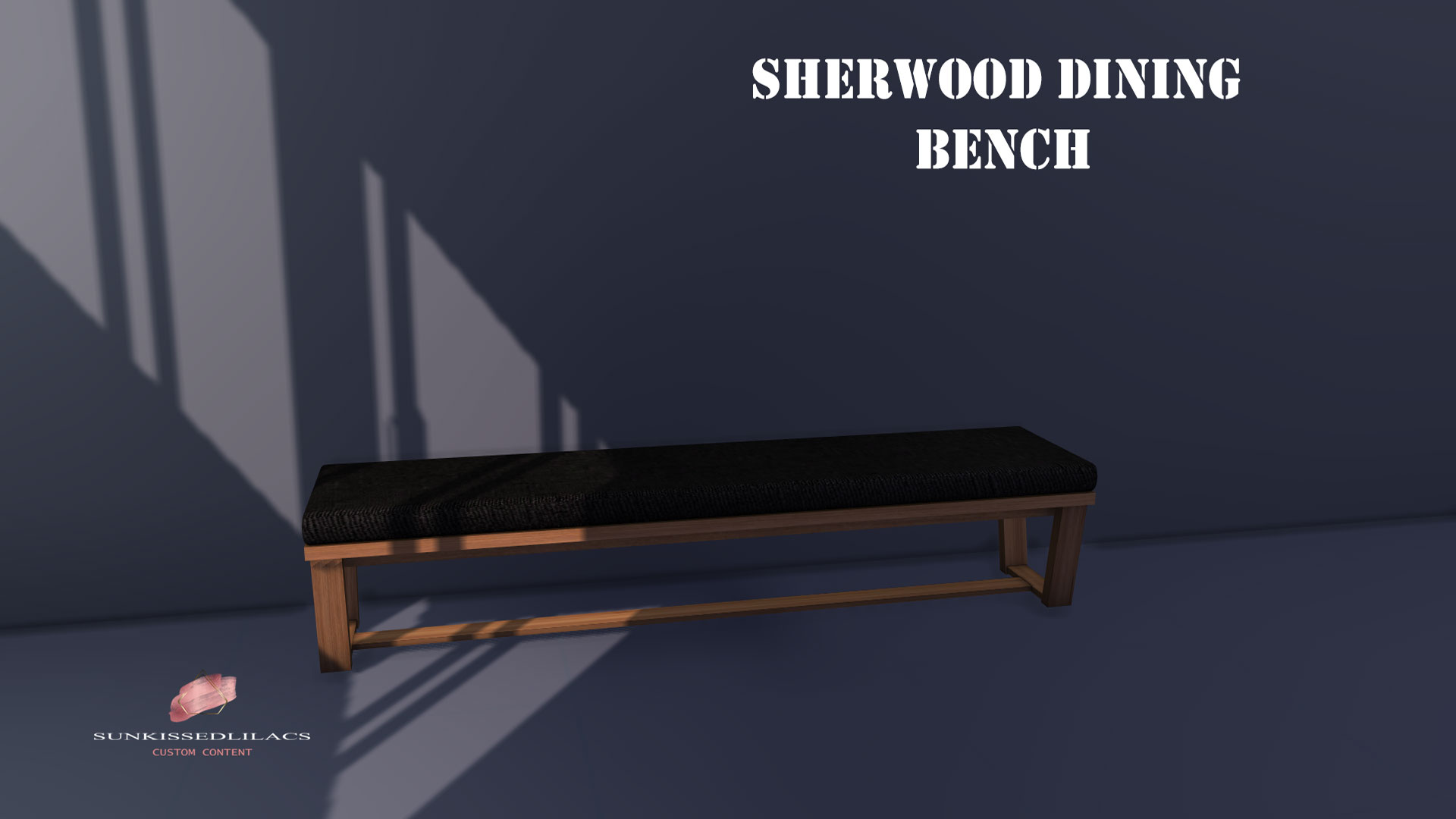 Sherwood dining bench-sunkissedlilacs-simms-4-custom-content