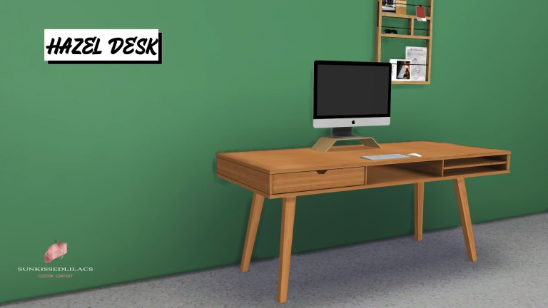 Hazel Desk, high quality sims 4 cc, sunkissedlilacs, free sims 4 furniture, sims 4 cc,